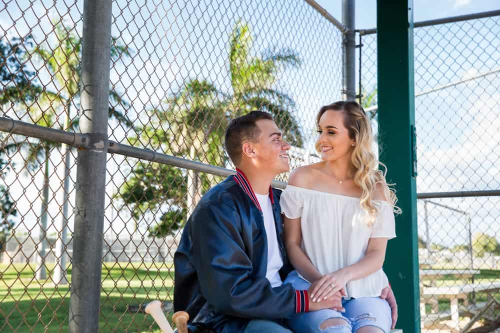 baseball engagement session