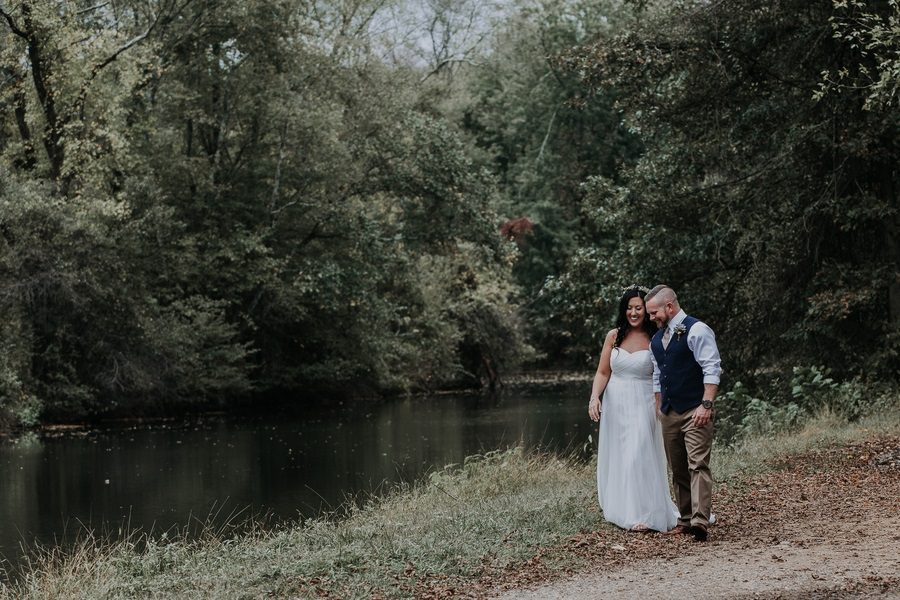 Bohemian Rustic Chic Canal Wedding in Kingston, NJ