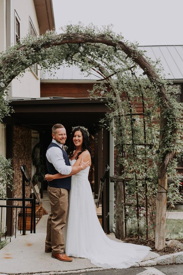 romantic wedding arch