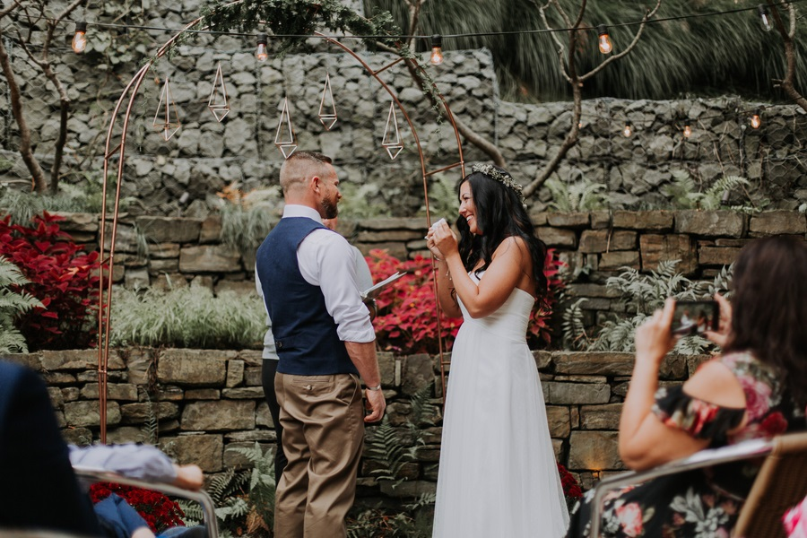 the exchanging of the vows