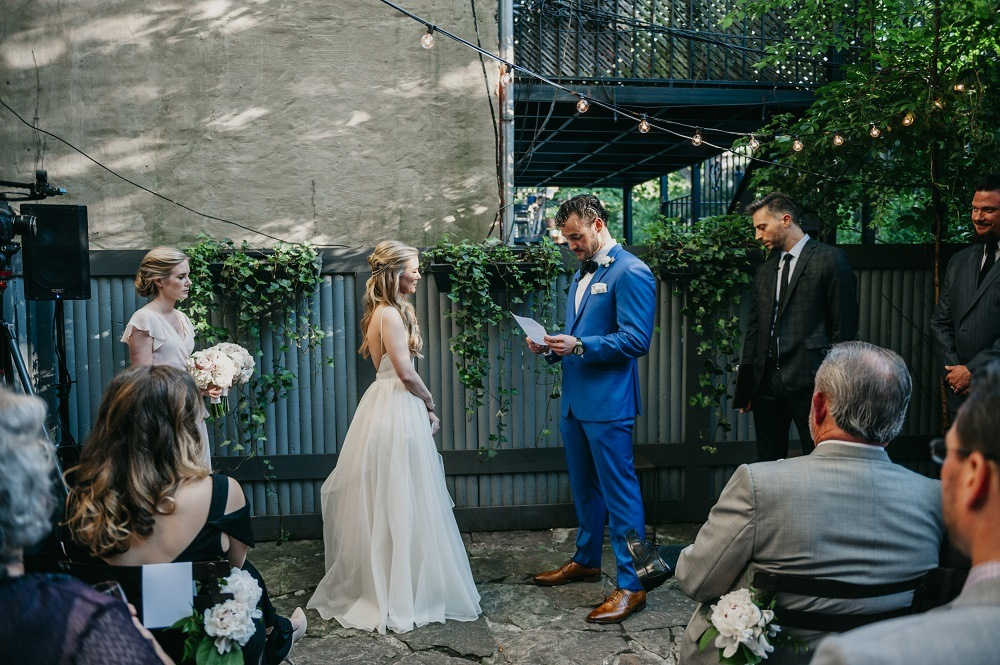 the exchanging of vows