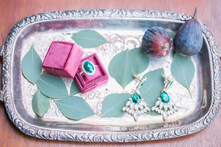 Fall Inspired Wedding with Rich Blue, Red and Green Hues