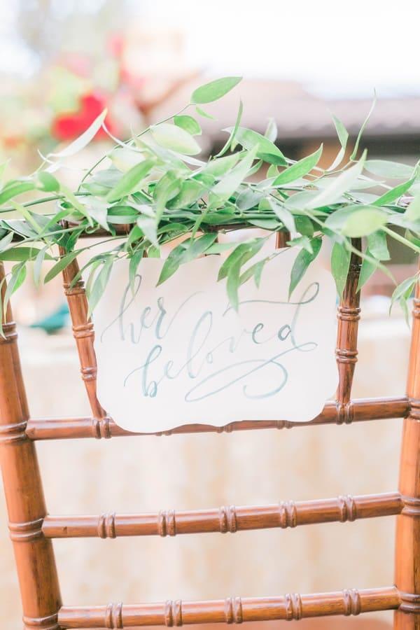 wedding table signage
