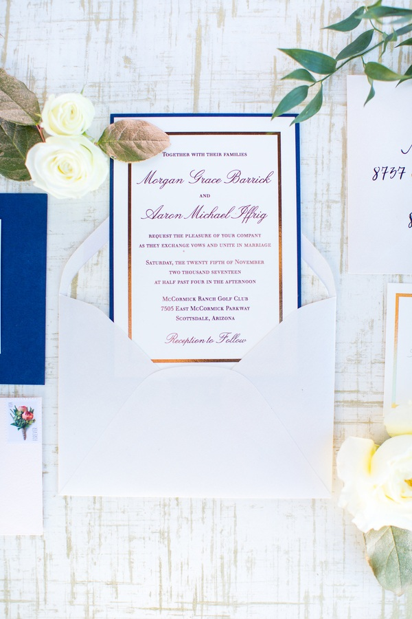 Romantic Wedding with the view of Camelback Mountain
