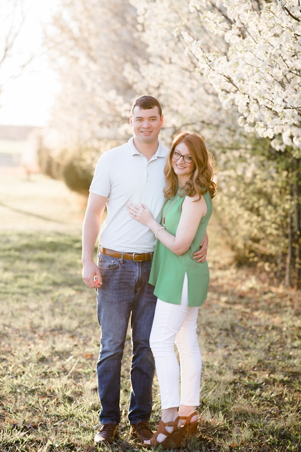 Bradford Pear Bloom Engagement Session