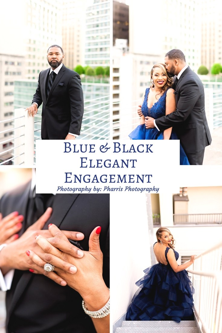 Blue & Black Elegant Engagement