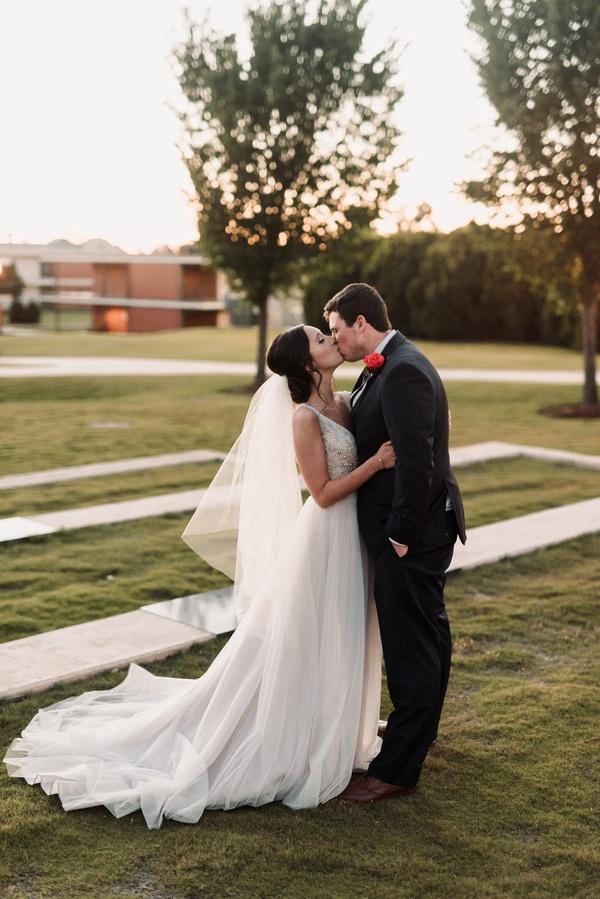 Joyful Spring Wedding in Oklahoma with Pizza Reception