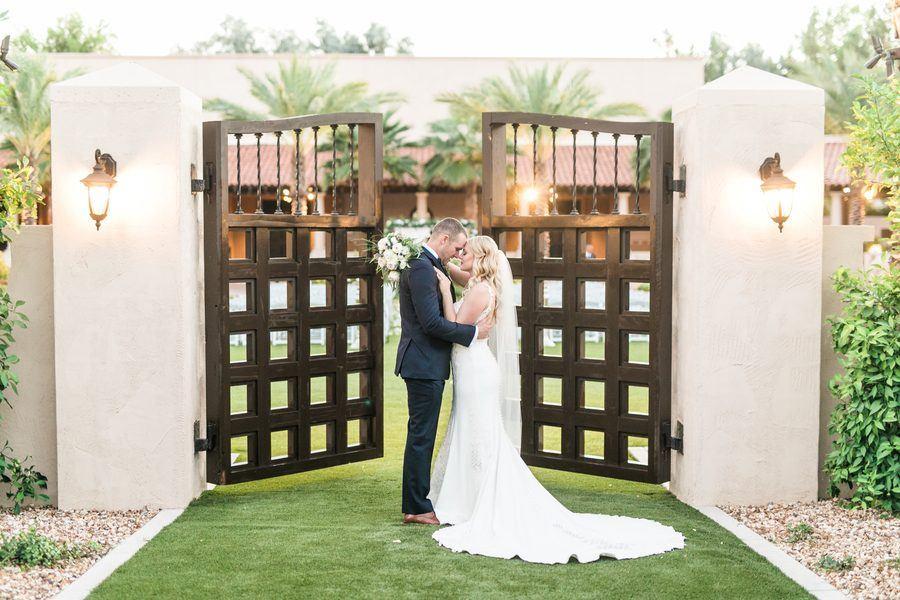 Heather & Jared's Navy Blue and White Scottsdale Resort Wedding