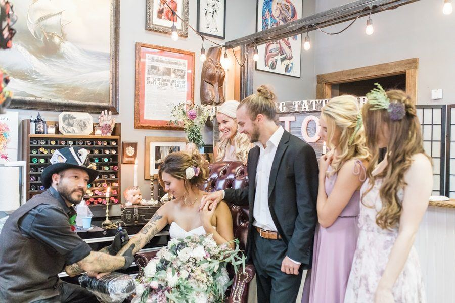 Introducing the Tattoo Wedding Shoot- The Most Alternative Bridal Shoot You'll Ever See!