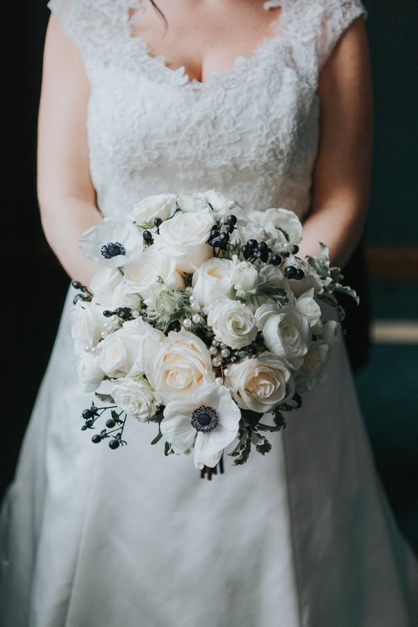 Elegant Black + Ivory Ohio Wedding