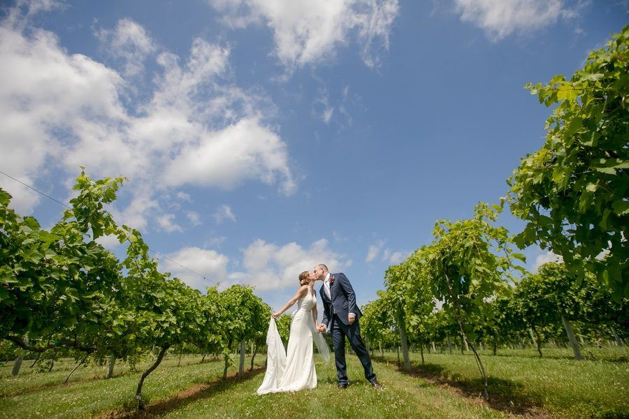 A Tear-Jerking Summer Vineyard Wedding in Minnesota