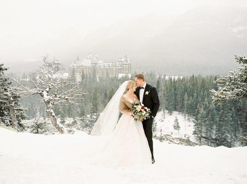 Elegant Winter Wedding at the Fairmont Banff Springs