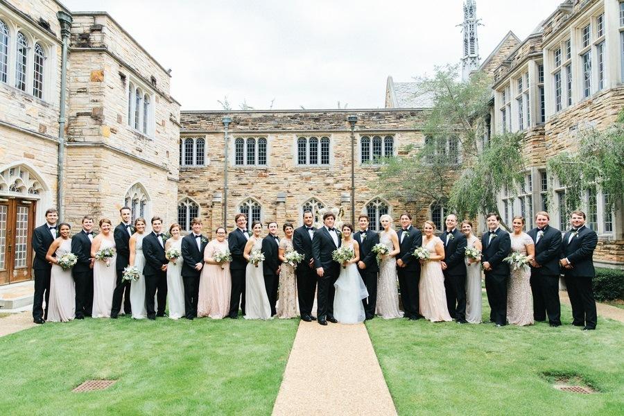 massive wedding party