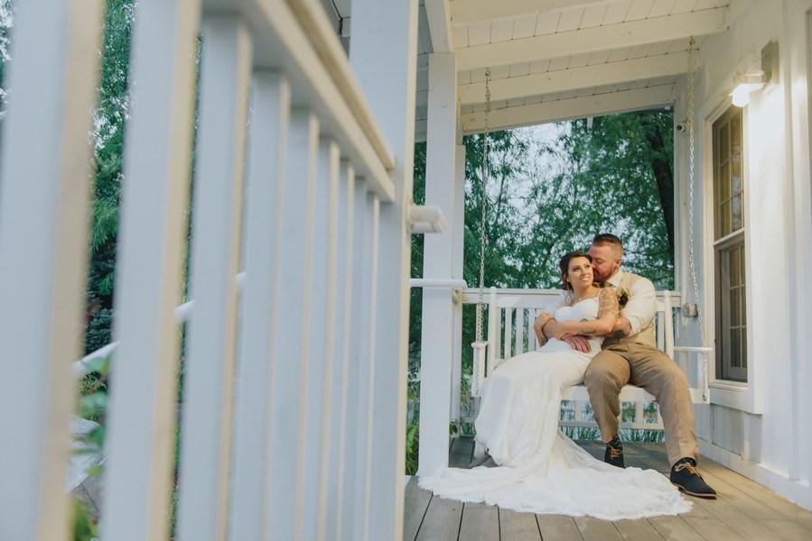 porch wedding photo