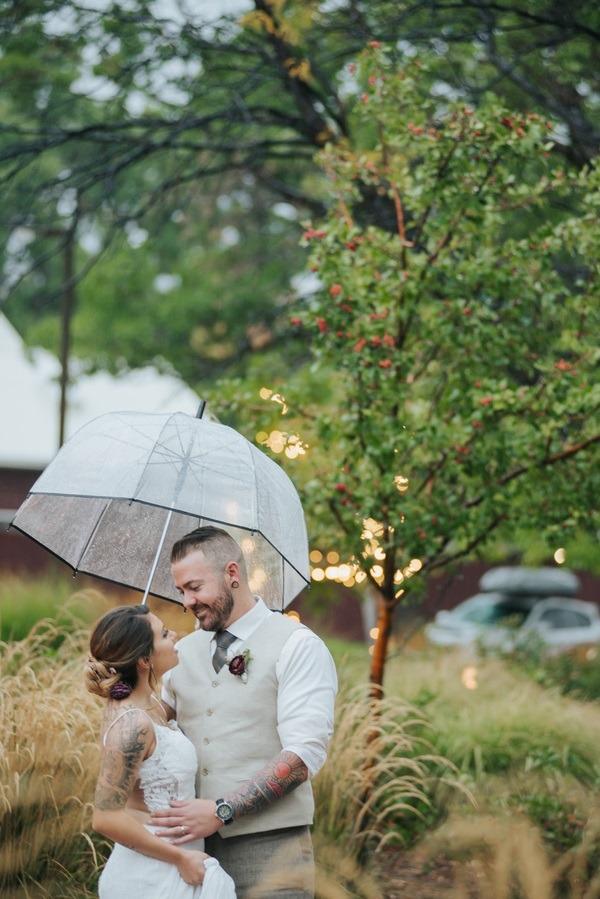 rain shower wedding