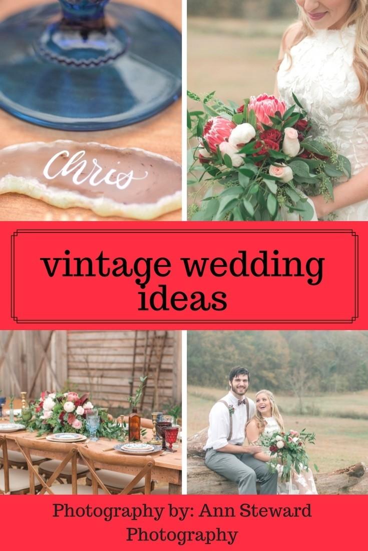 Jewel-Toned Vintage Wedding Ideas