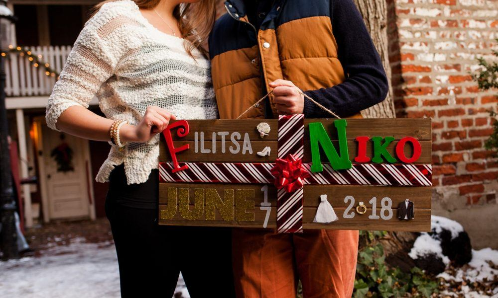 Stunning Winter Engagement Photos in Downtown Philadelphia