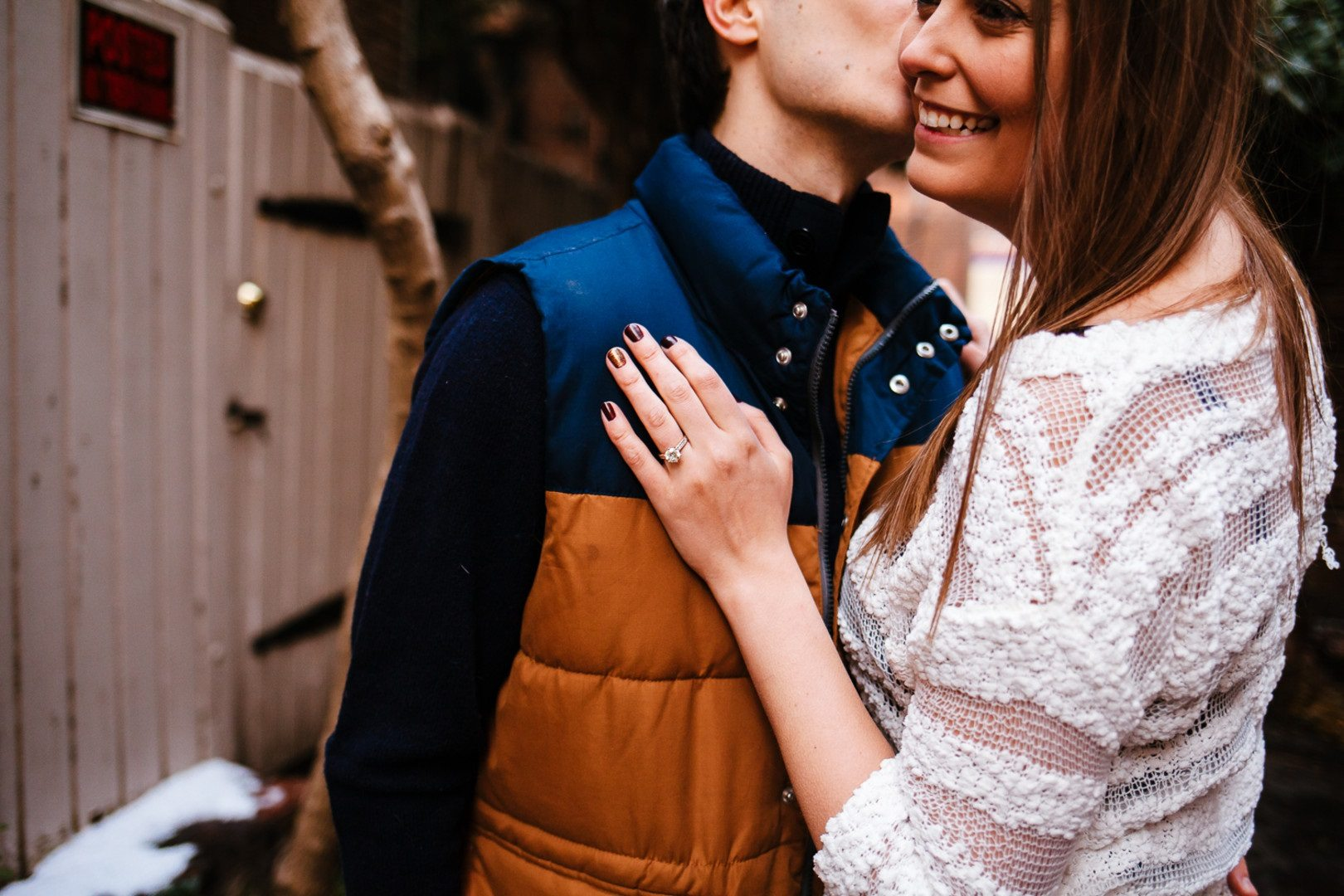 winter engagement photos
