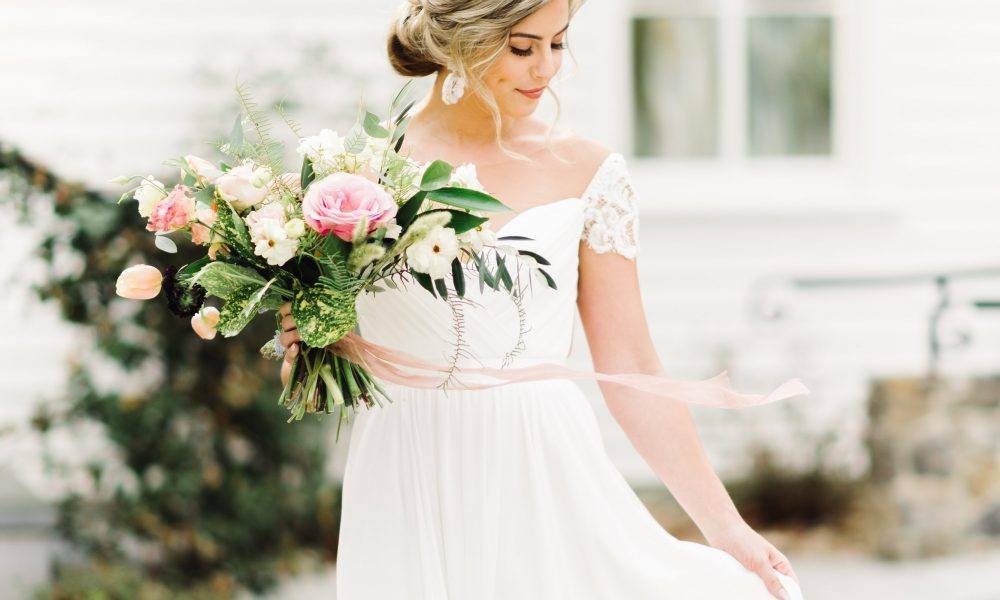 Romantic Floral Bridal Shoot and Pinterest Inspiration