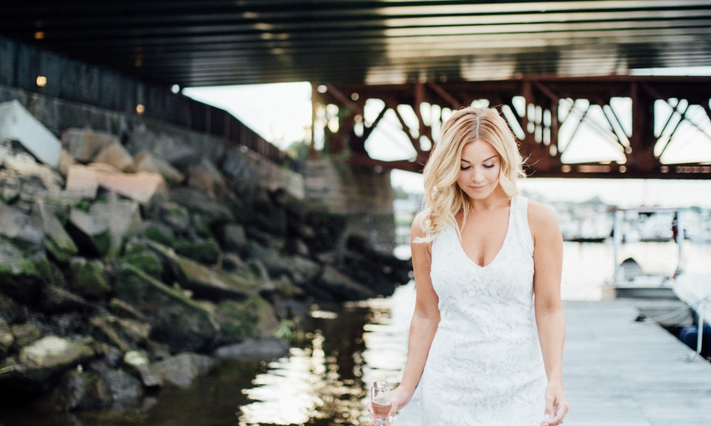 Seaside Boston Bachelorette Styled Shoot