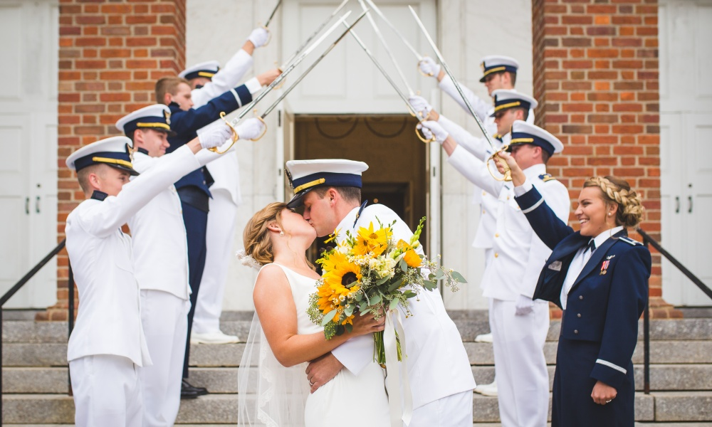 Military Wedding Inspiration for Fourth of July