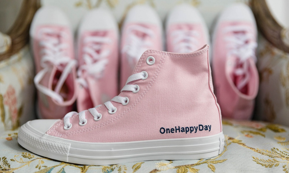Ditch the Heels On Your Wedding Day and Say Hello to Pink Converse & Ballet Flats!