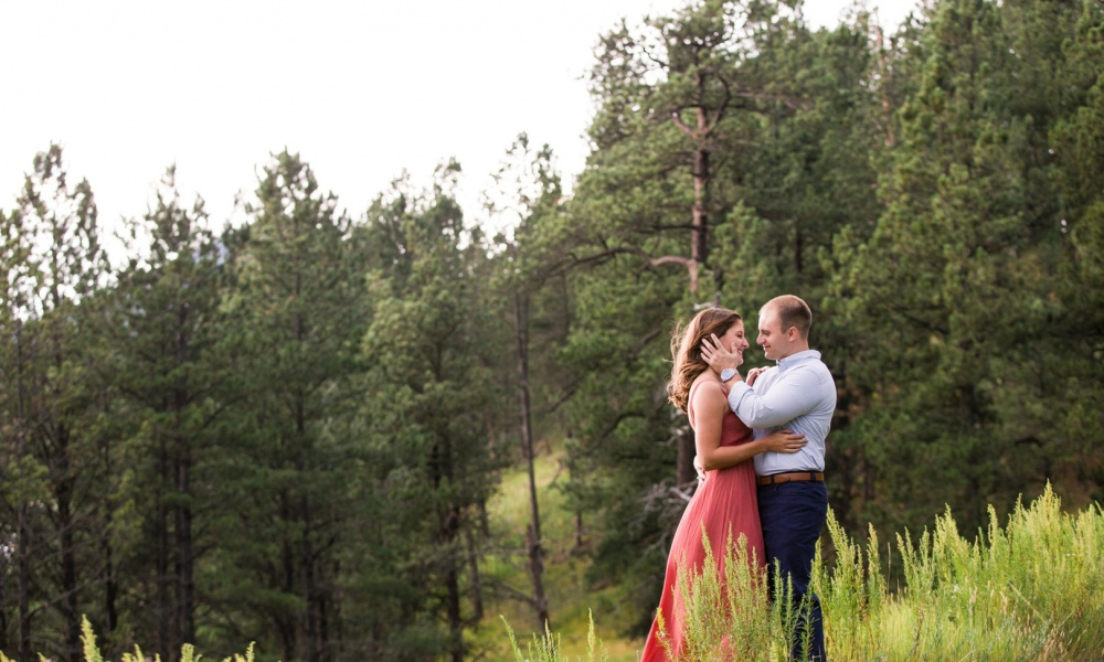 Midwest Mountainside South Dakota Engagement