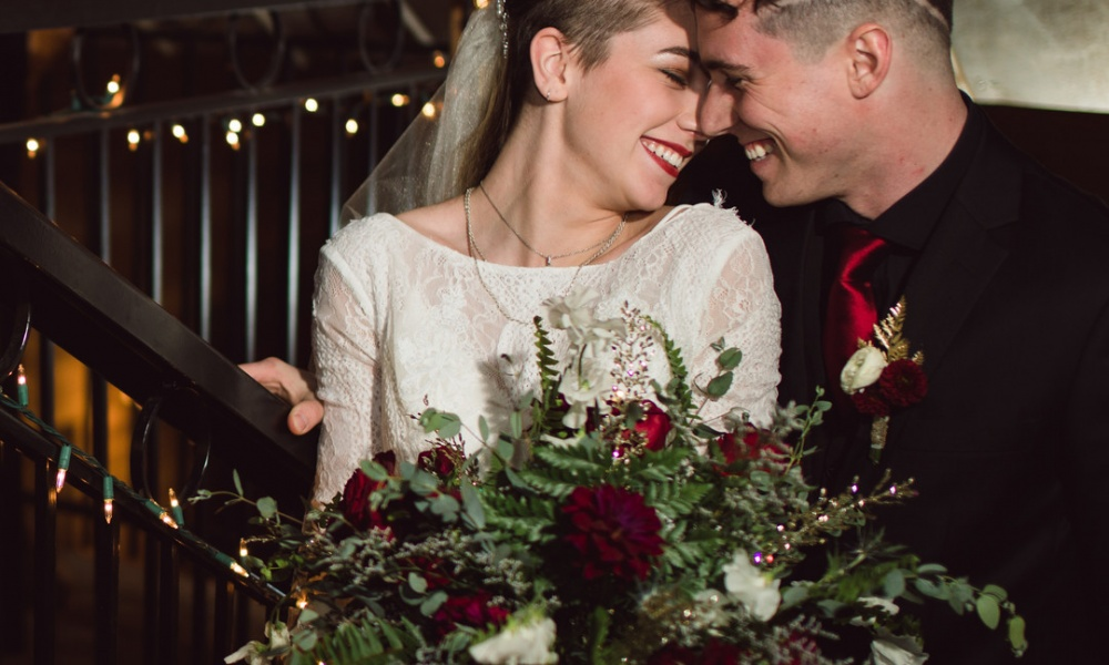 Red and Black Themed Styled Shoot