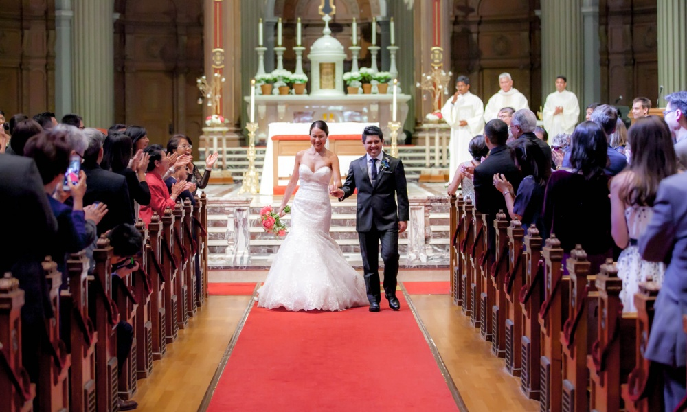 Classic Wedding With A Sense Of Tradition at St. Ignatius Church