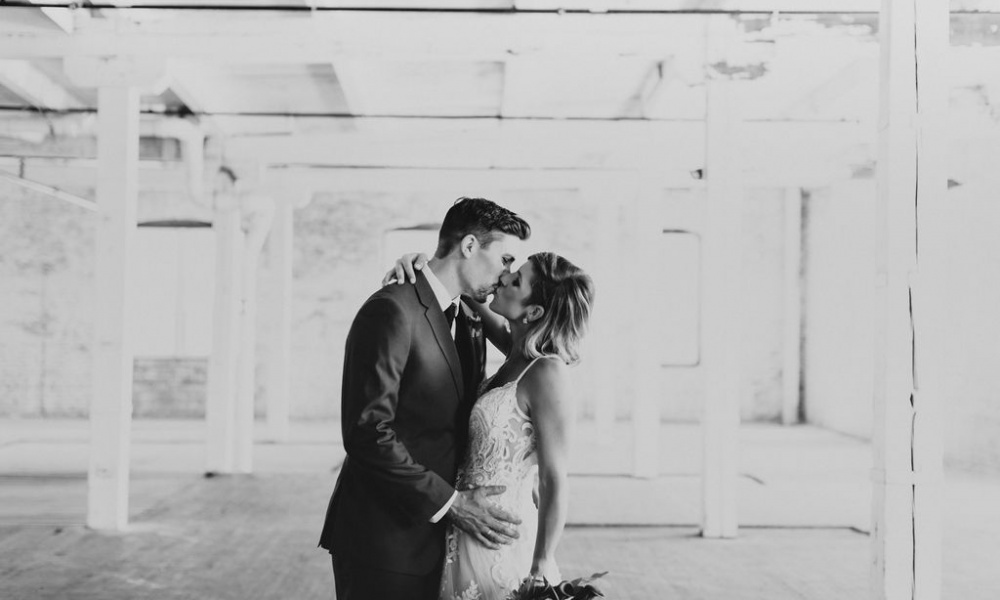 Moody, Mid-Century and Modern Chicago Wedding