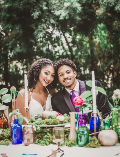 Jewel-Toned Rustic Styled Wedding