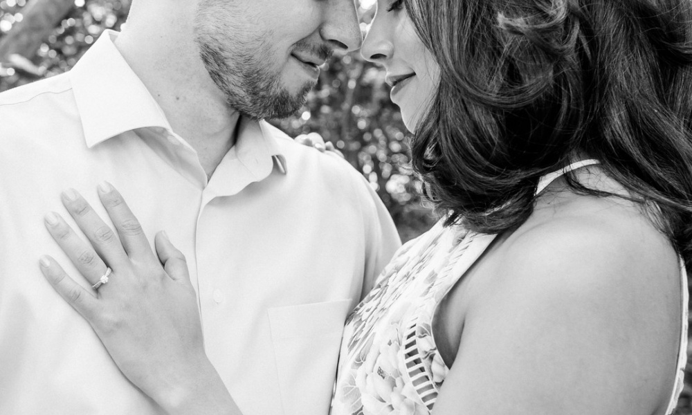 Naomi And Ryan's Beach And Wooded Engagement Session