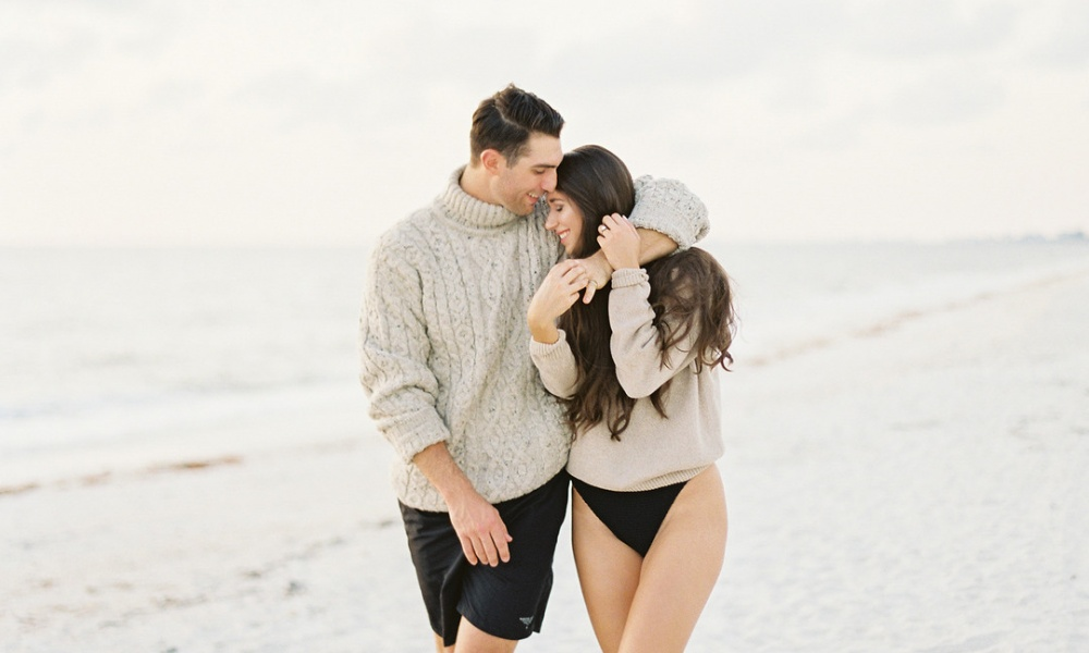 Cozy Beach Engagement in Naples, Florida